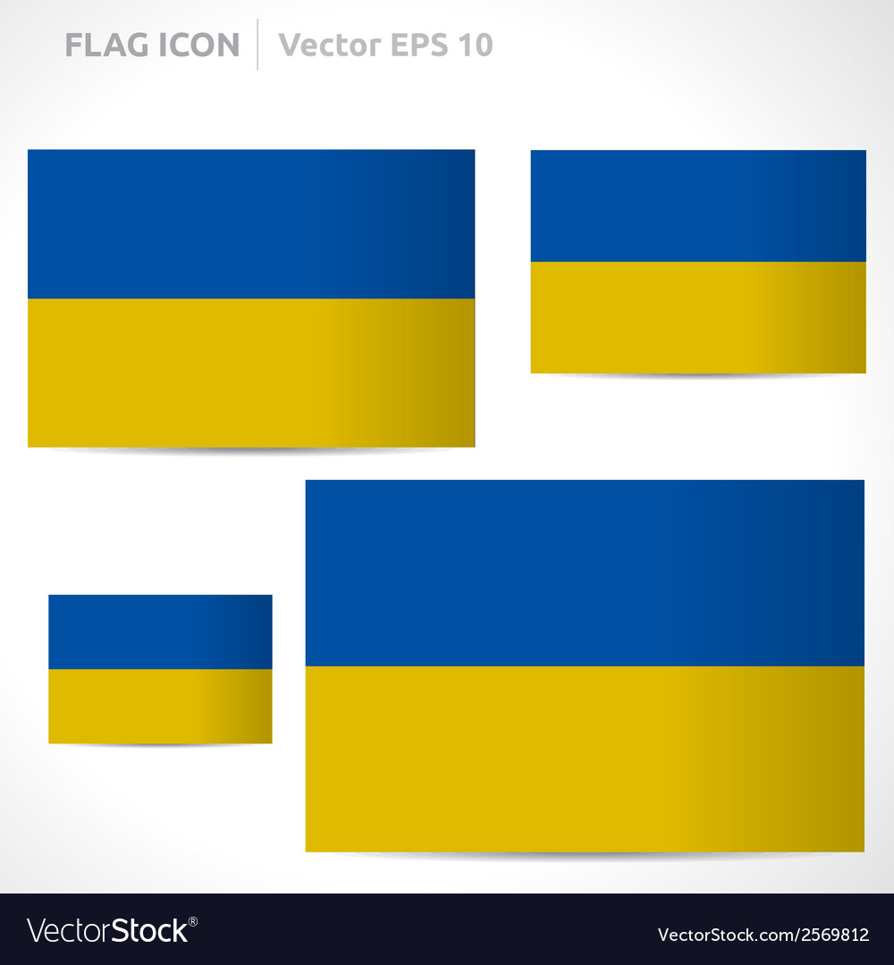 Ukraine flag template vector | Price: 1 Credit (USD $1)