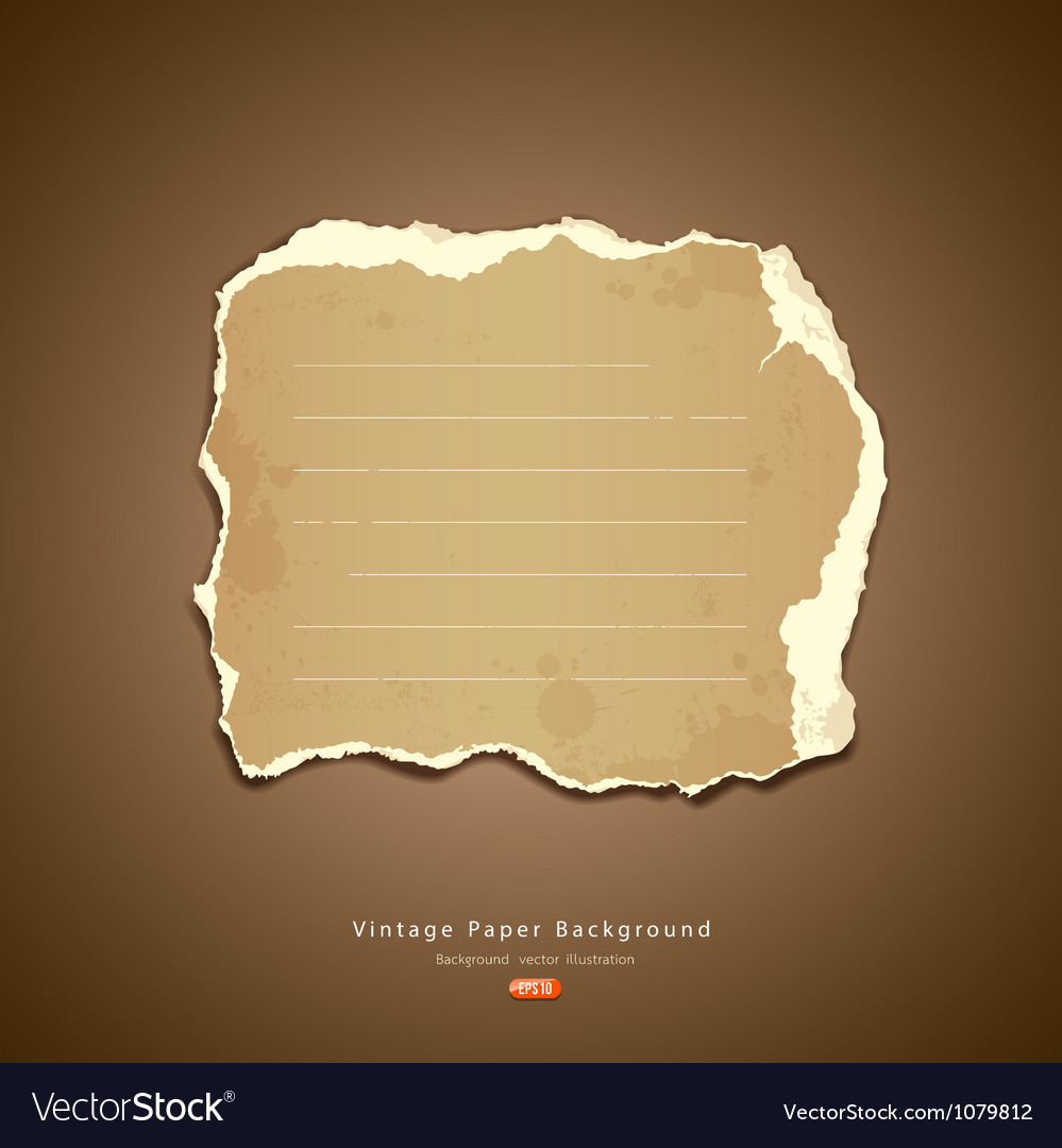 Vintage ripped paper vector | Price: 1 Credit (USD $1)