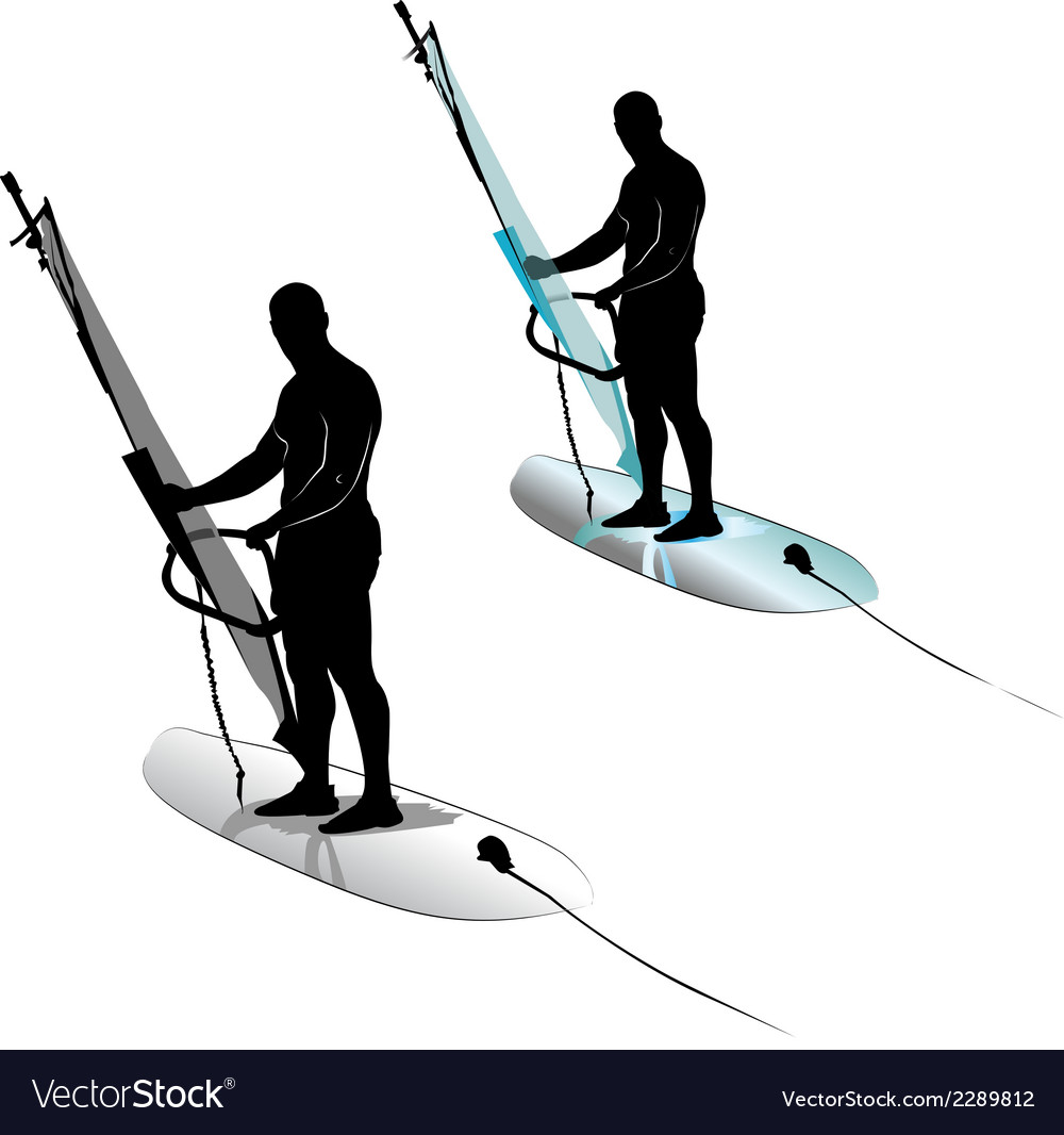 Windsurfing water sports vector | Price: 1 Credit (USD $1)