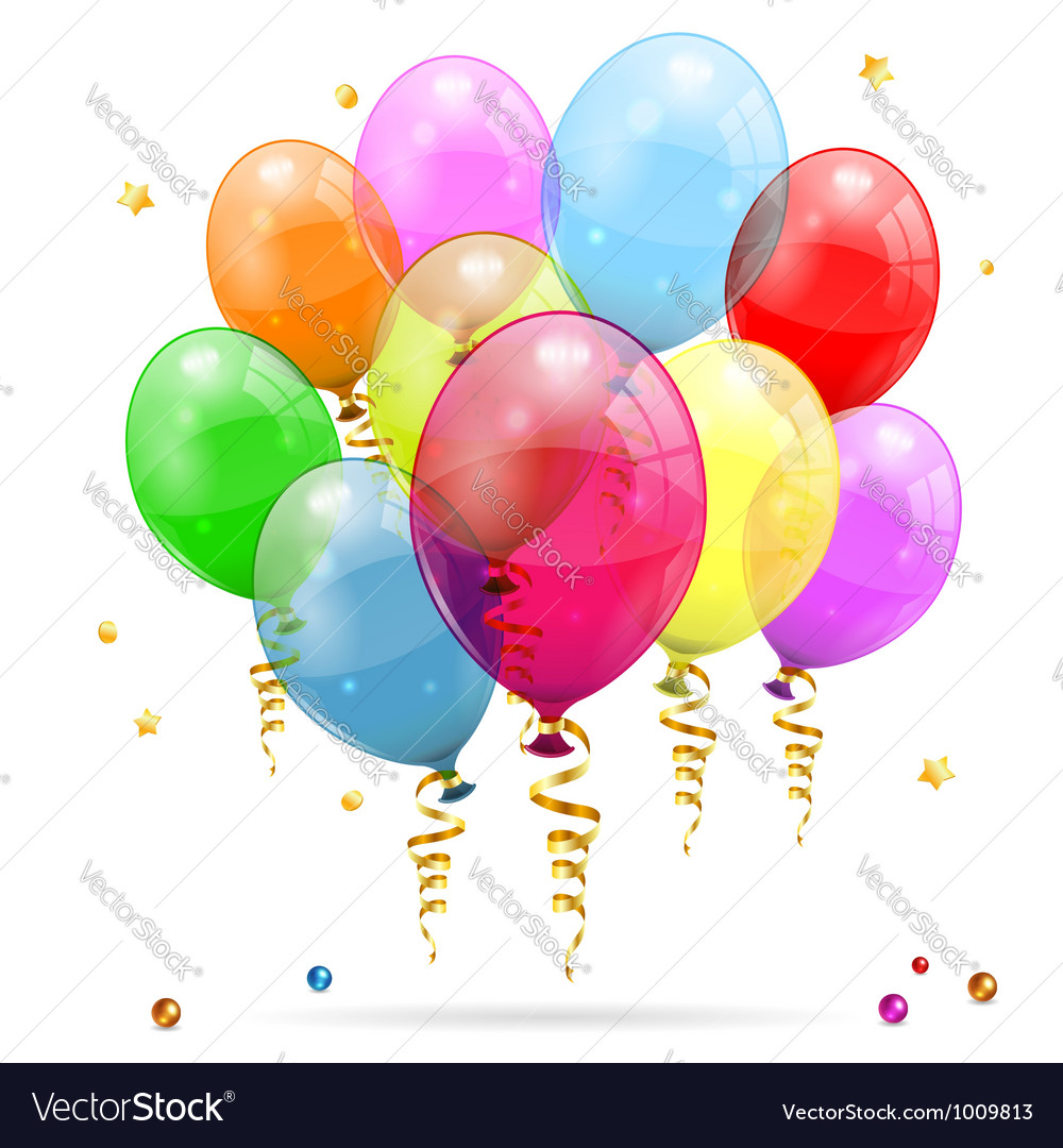 Birthday balloons vector | Price: 1 Credit (USD $1)