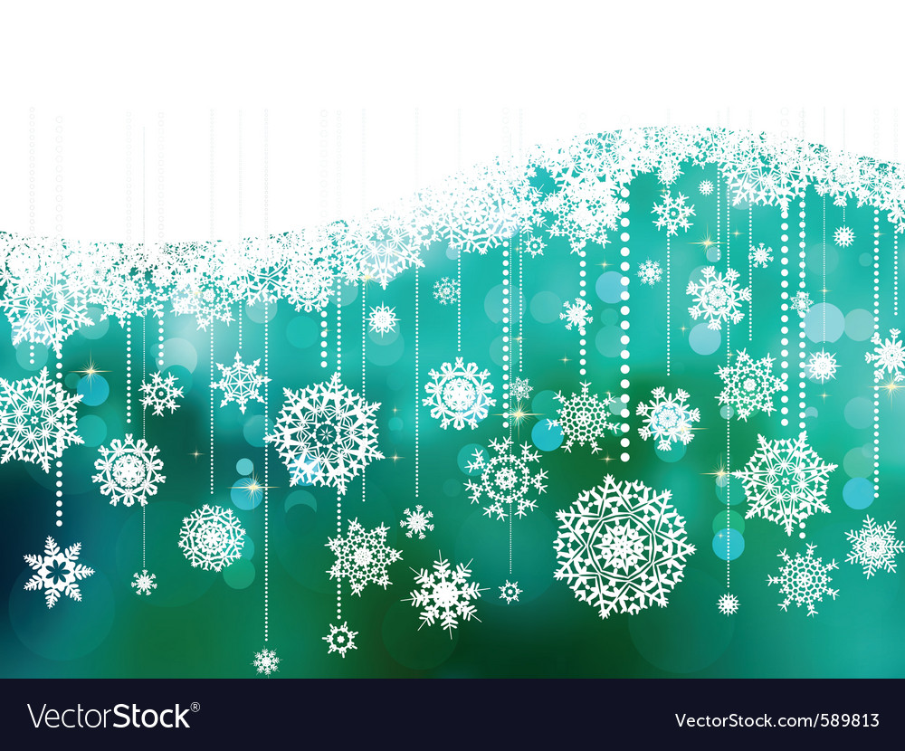 Blue christmas background with copy space eps 8 vector | Price: 1 Credit (USD $1)