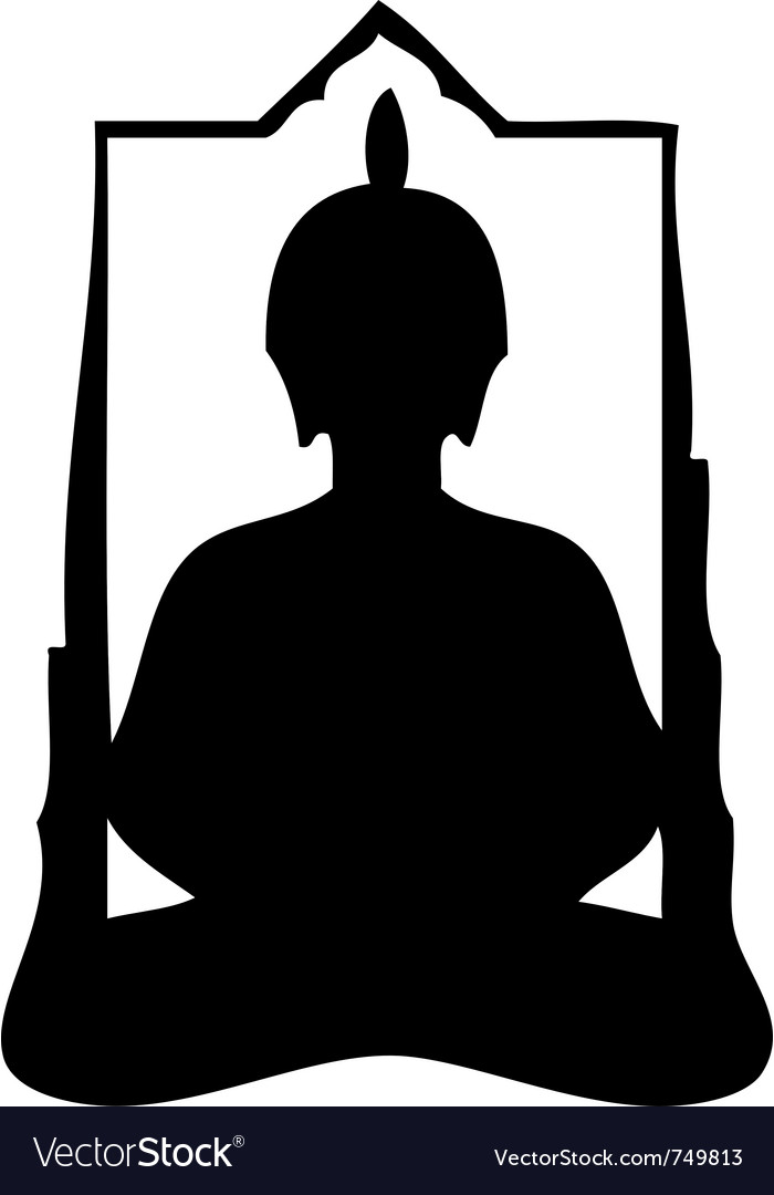 Buddha silhouette vector | Price: 1 Credit (USD $1)