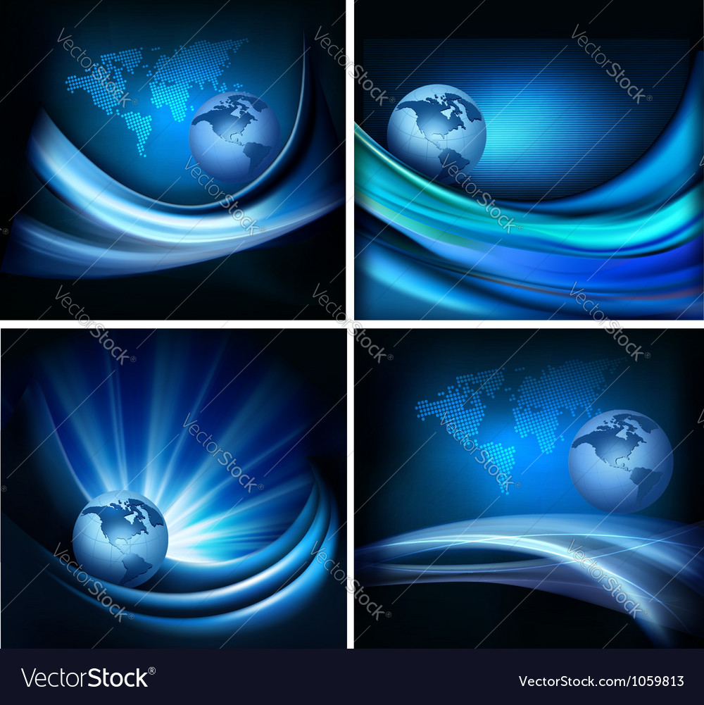 Business elegant abstract background with globe vector | Price: 1 Credit (USD $1)