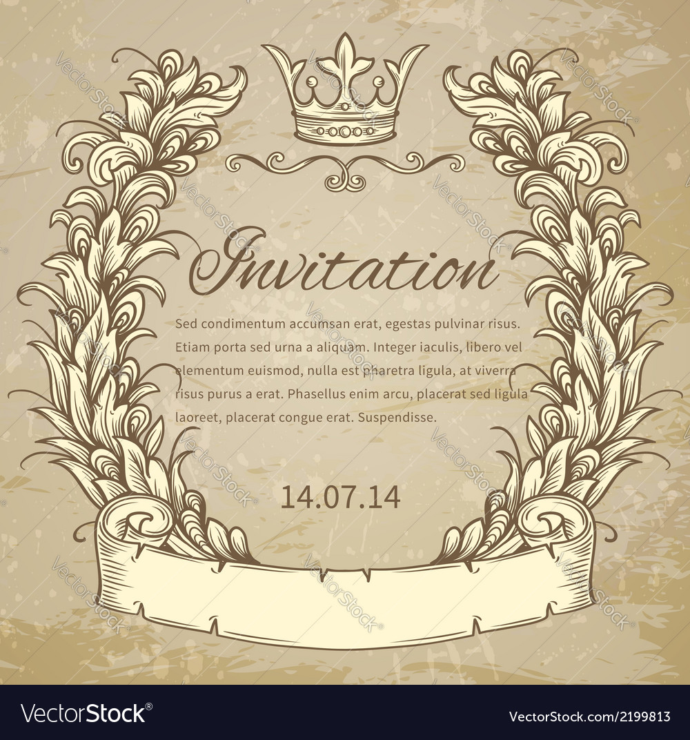 Cartouche with ribbon vector | Price: 1 Credit (USD $1)