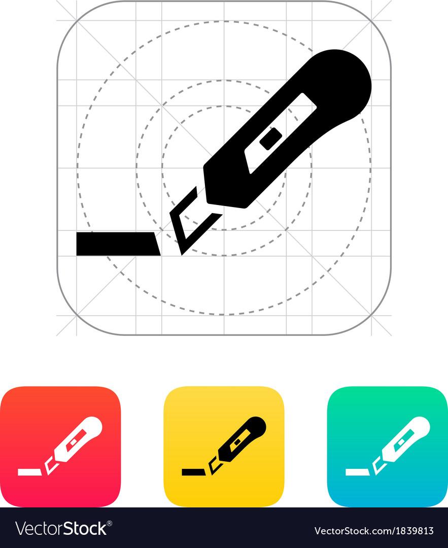Cut ribbon icon vector | Price: 1 Credit (USD $1)