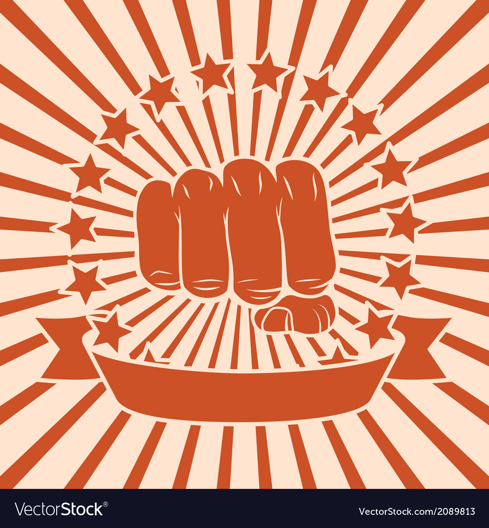 Fist comic poster vector | Price: 1 Credit (USD $1)