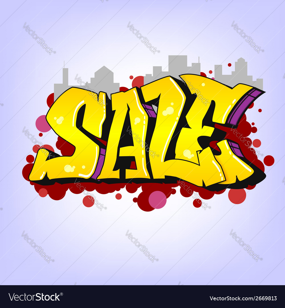 Graffiti style sale inscription urban art vector | Price: 1 Credit (USD $1)