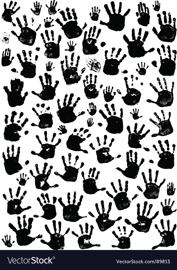 Hand prints vector | Price: 1 Credit (USD $1)