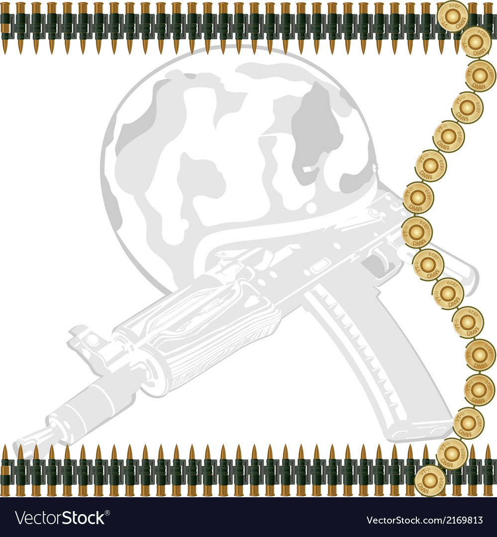 Machine gun tape vector | Price: 1 Credit (USD $1)