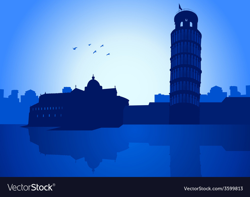 Pisa italy vector | Price: 1 Credit (USD $1)