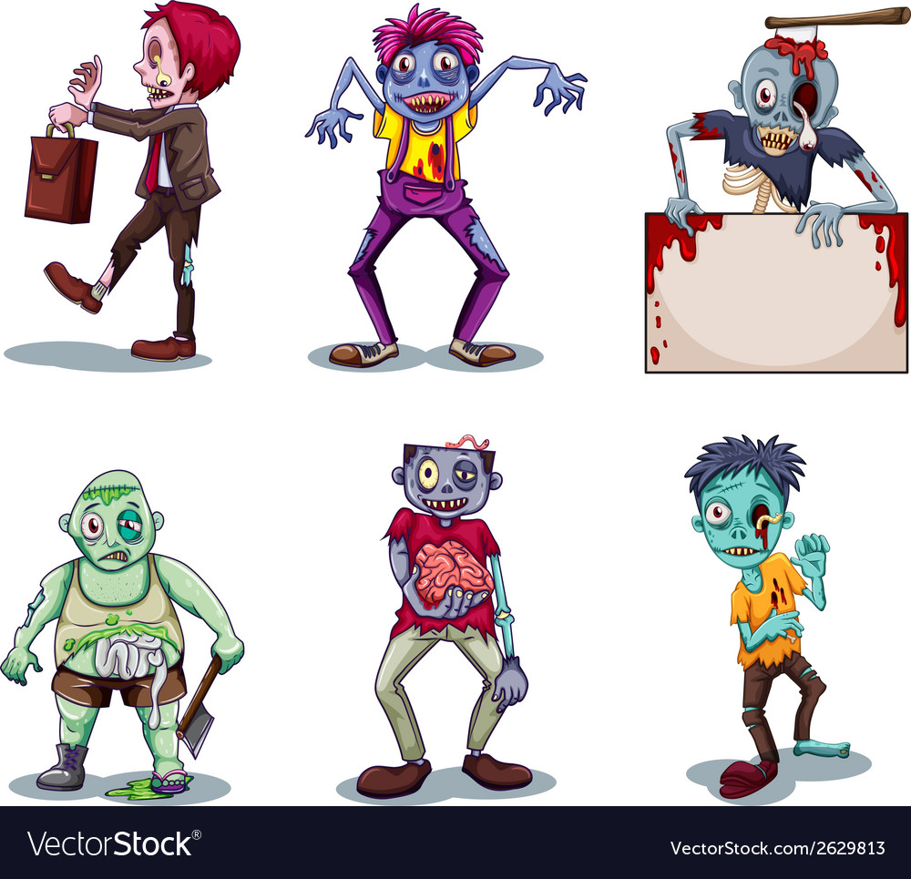 Scary zombies vector | Price: 3 Credit (USD $3)