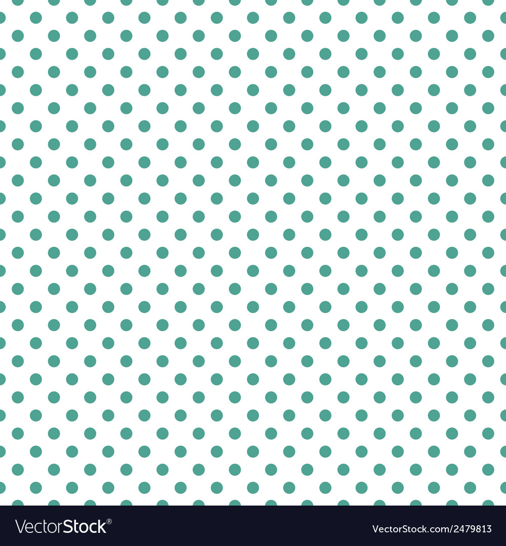 Tile green polka dots on white background vector | Price: 1 Credit (USD $1)