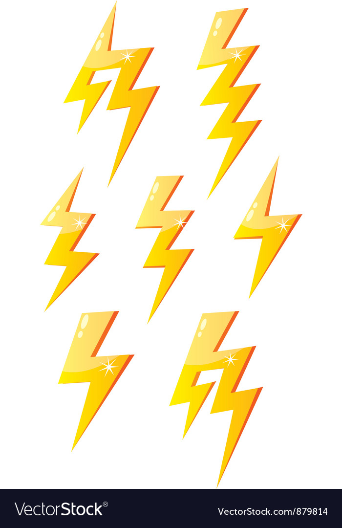 Cartoon lightning vector | Price: 1 Credit (USD $1)