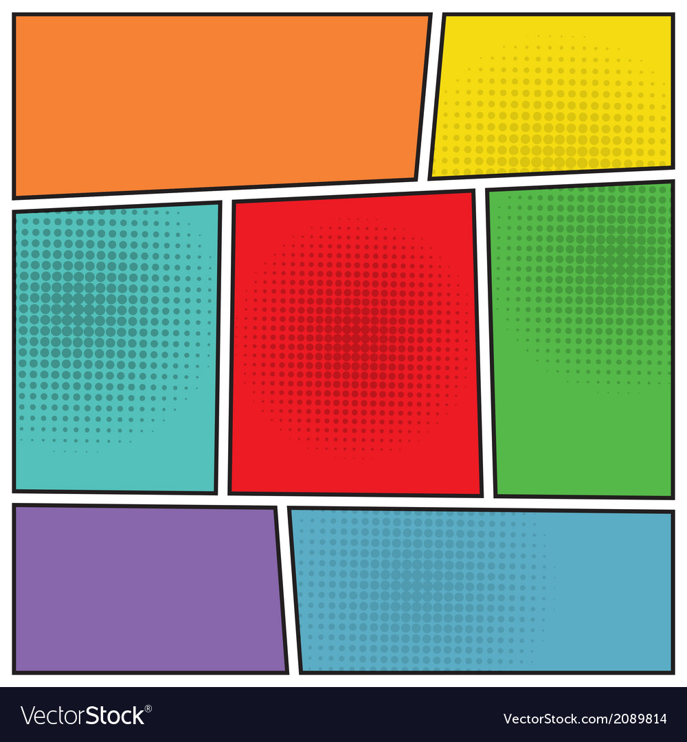Comics popart blank layout vector | Price: 1 Credit (USD $1)