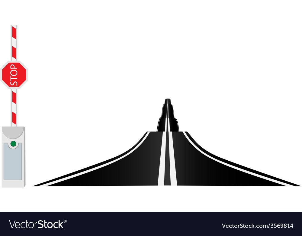 Country road and barrier vector | Price: 1 Credit (USD $1)