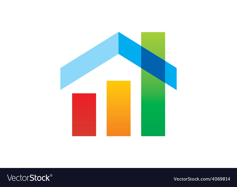 Home design graph sold construction logo vector | Price: 1 Credit (USD $1)