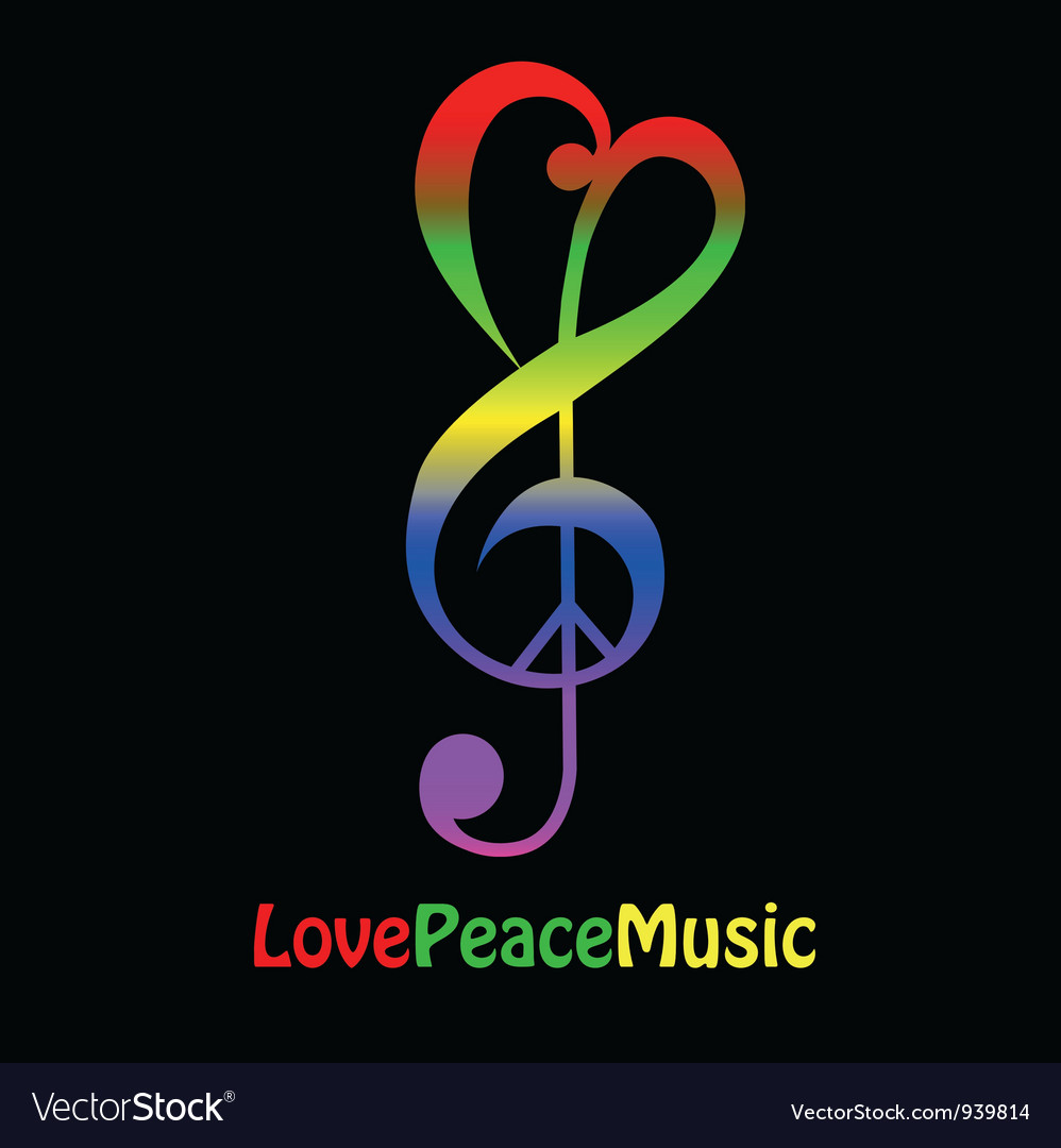 Lovepeacemusicthumb vector | Price: 1 Credit (USD $1)