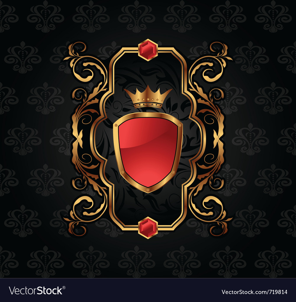 Ornate decorative golden frame - vector | Price: 1 Credit (USD $1)