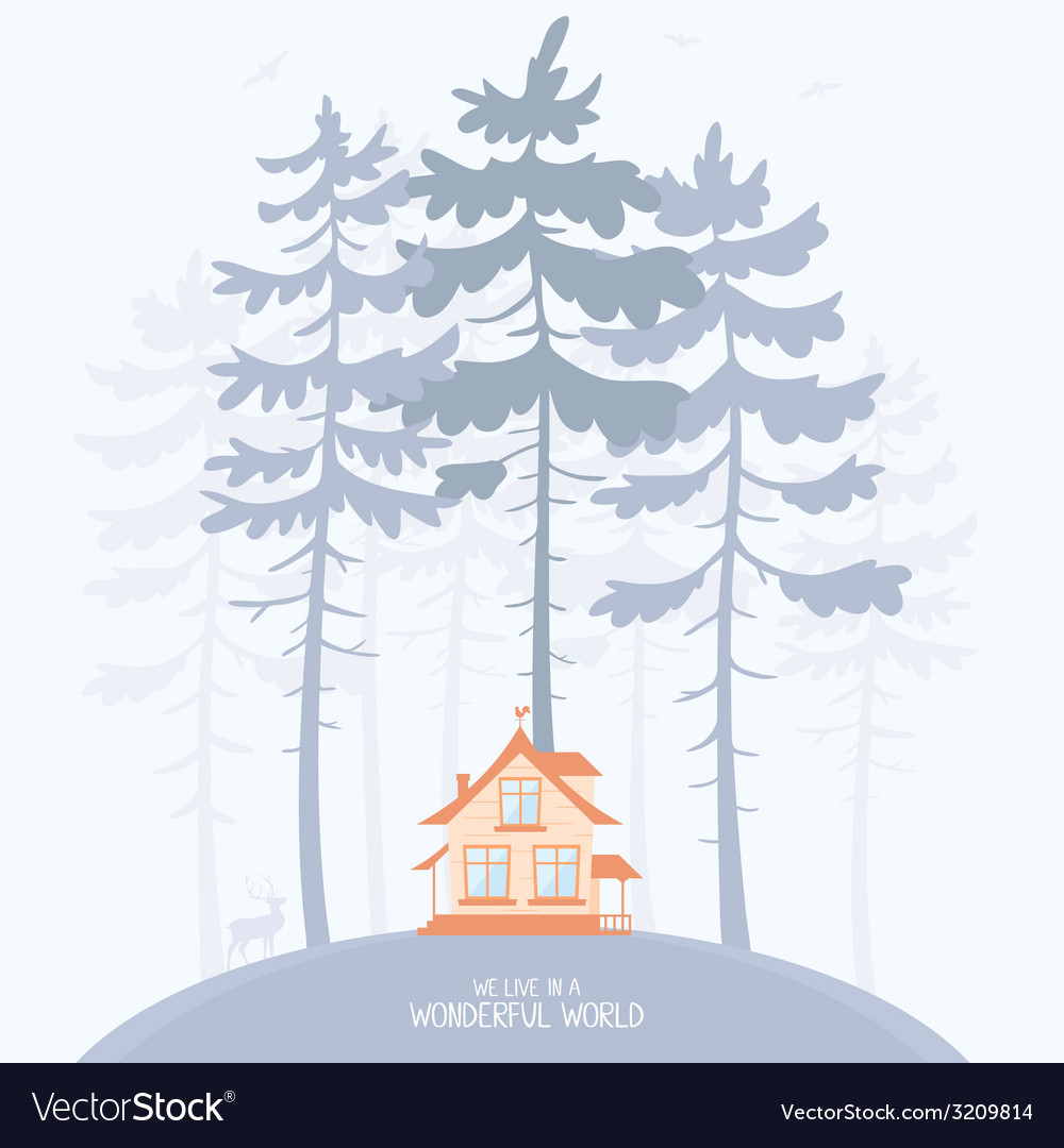 Pine and lodge vector | Price: 1 Credit (USD $1)