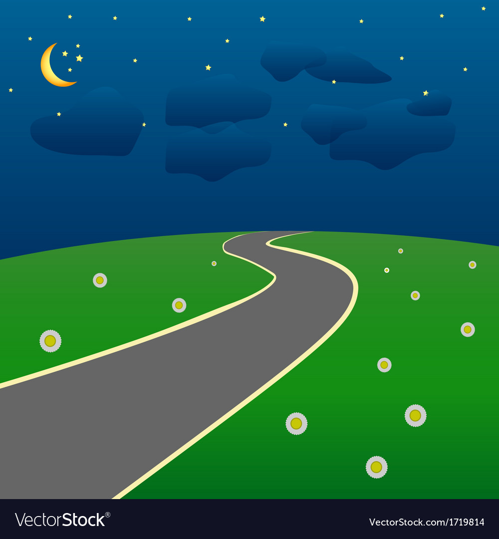 Road into the unknown vector | Price: 1 Credit (USD $1)