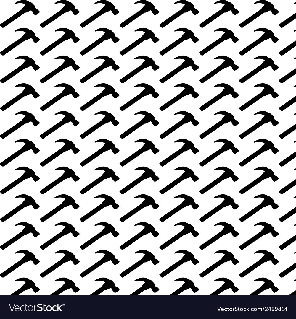 Seamless pattern background of hammer vector | Price: 1 Credit (USD $1)