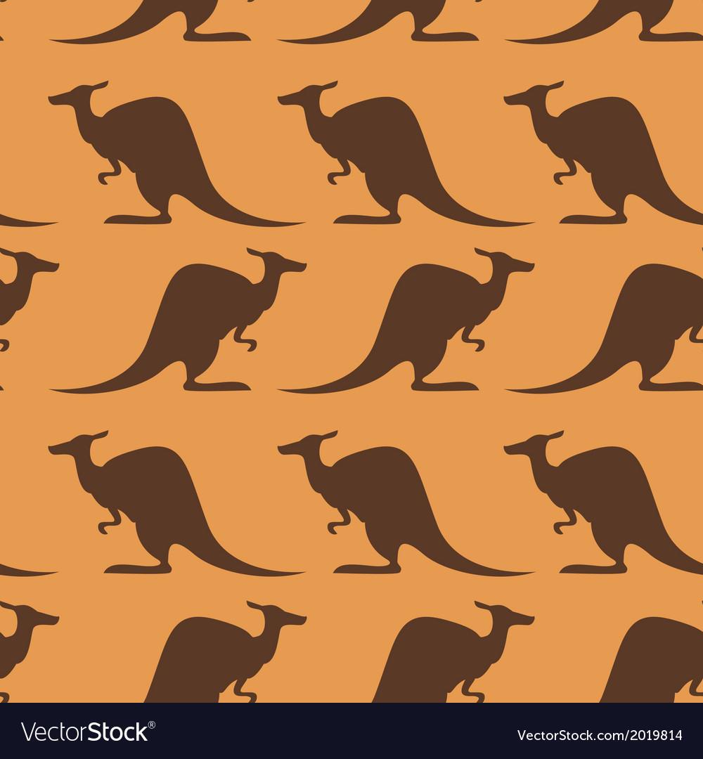 Seamless with kangaroo vector | Price: 1 Credit (USD $1)