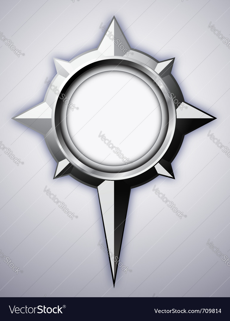 Steel compass rose vector | Price: 1 Credit (USD $1)