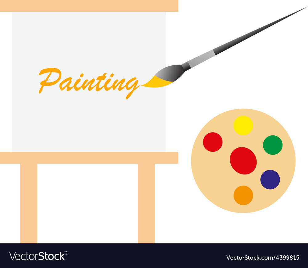 Art board and paint pallet vector | Price: 1 Credit (USD $1)