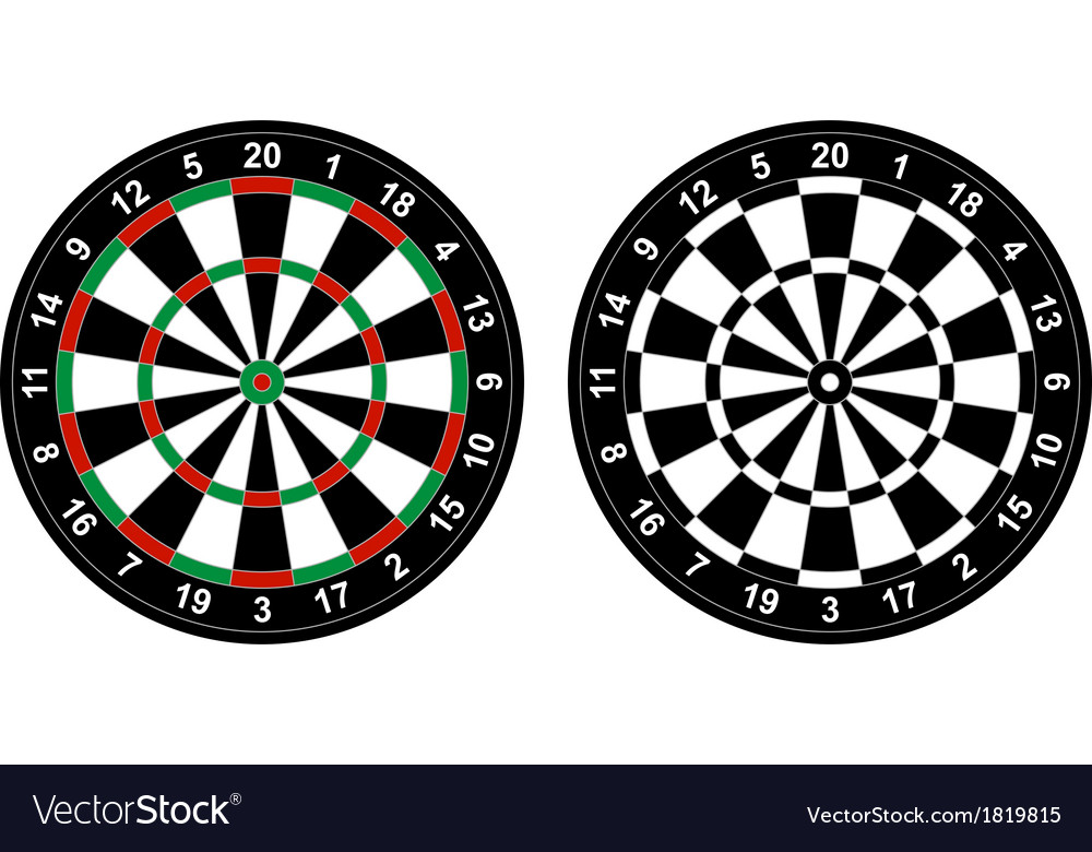 Dartboard vector | Price: 1 Credit (USD $1)