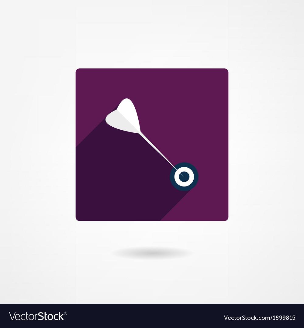 Darts icon vector | Price: 1 Credit (USD $1)