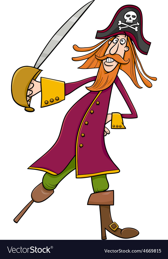 Funny pirate cartoon vector   Price: 1 Credit (USD $1)
