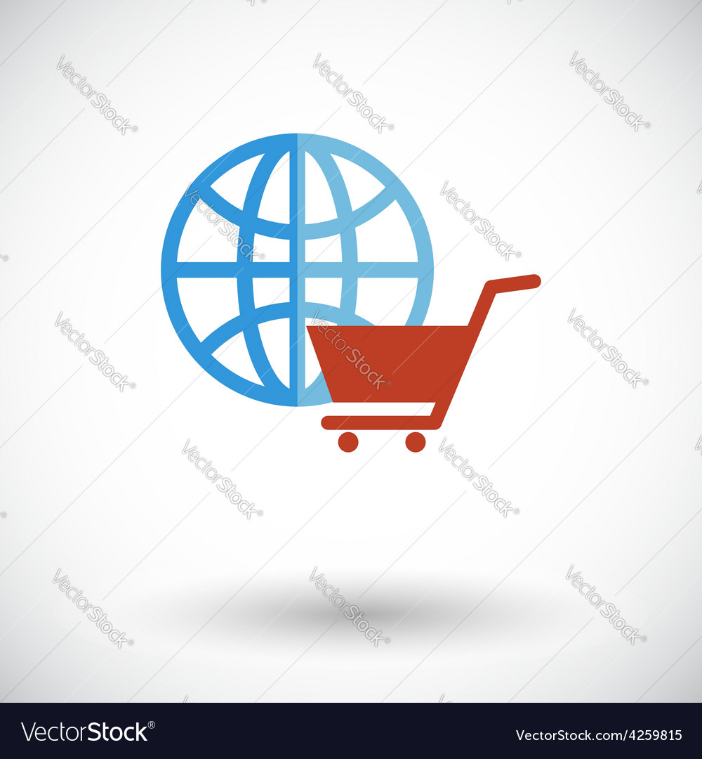 Global shopping vector | Price: 1 Credit (USD $1)