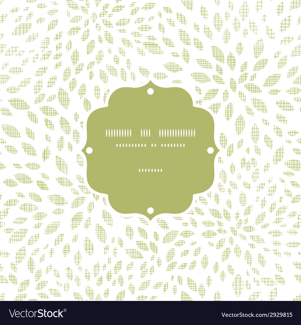 Green leaves explosion textile texture frame vector | Price: 1 Credit (USD $1)