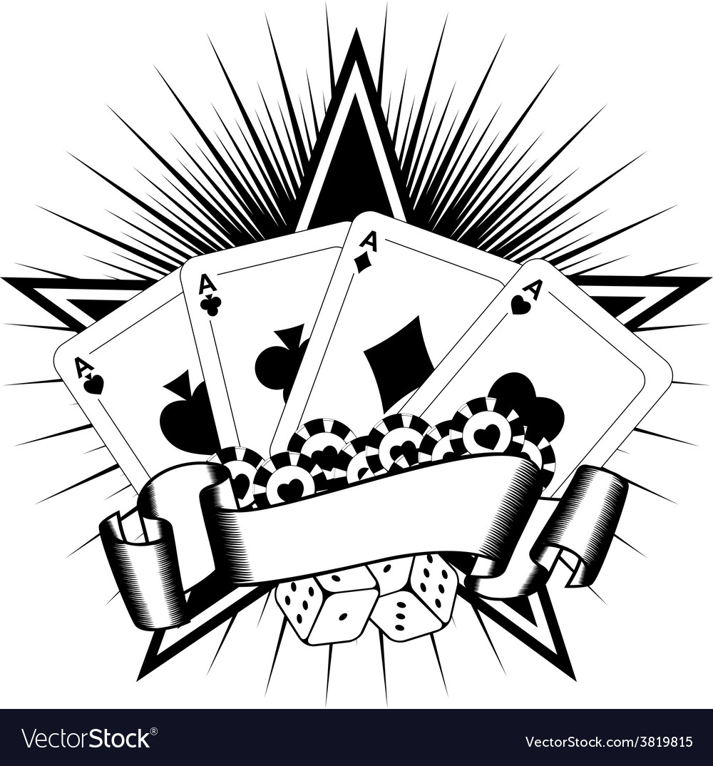 Playing cards dice chips vector | Price: 1 Credit (USD $1)