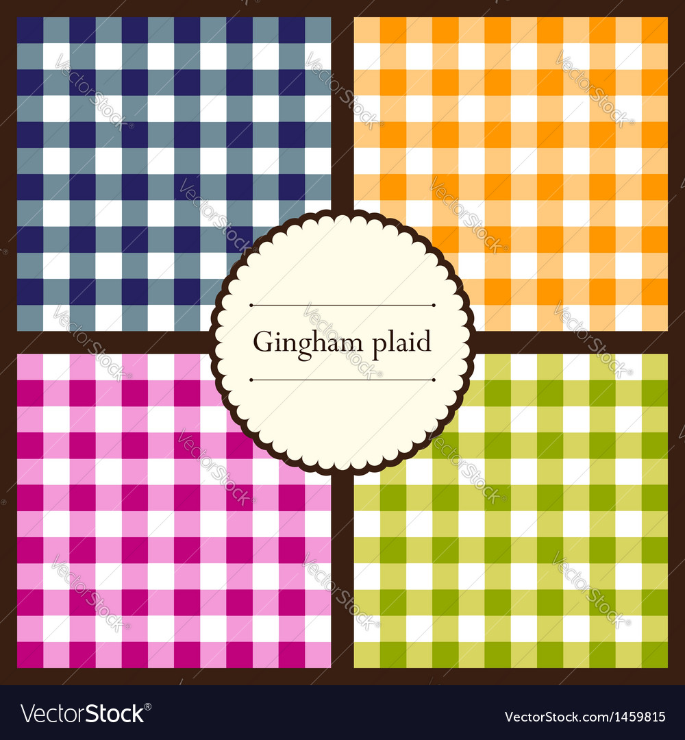 Set of gingham plaid patterns vector | Price: 1 Credit (USD $1)