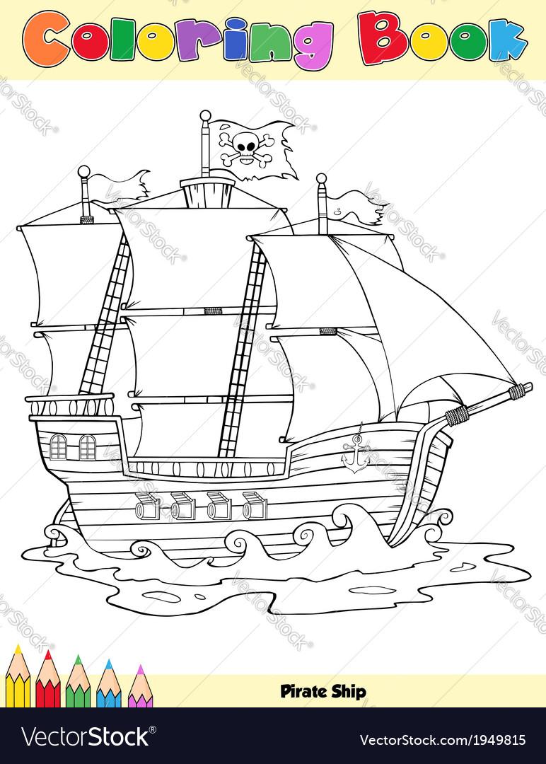 Ship cartoon vector | Price: 1 Credit (USD $1)