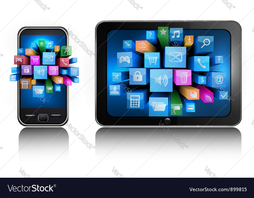Smartphone and tablet pc vector | Price: 3 Credit (USD $3)