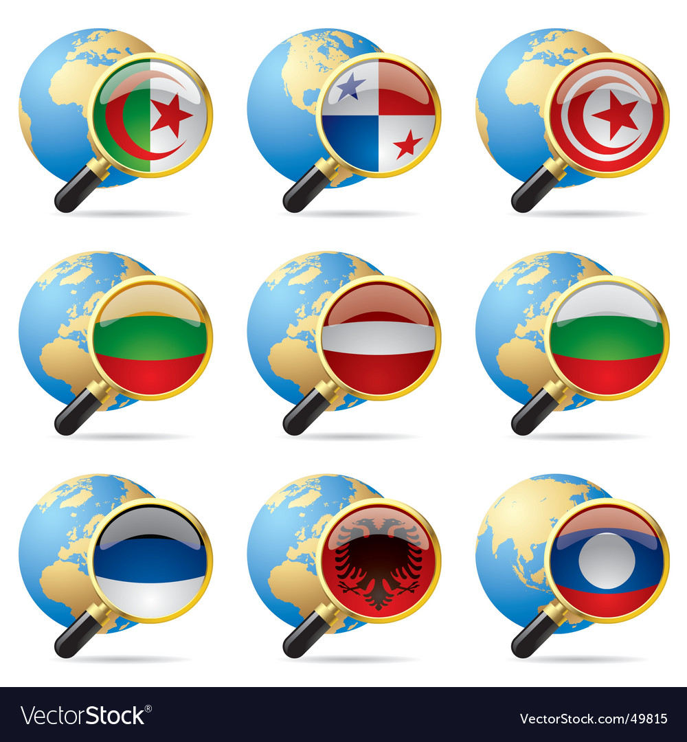 World flag icons vector | Price: 3 Credit (USD $3)