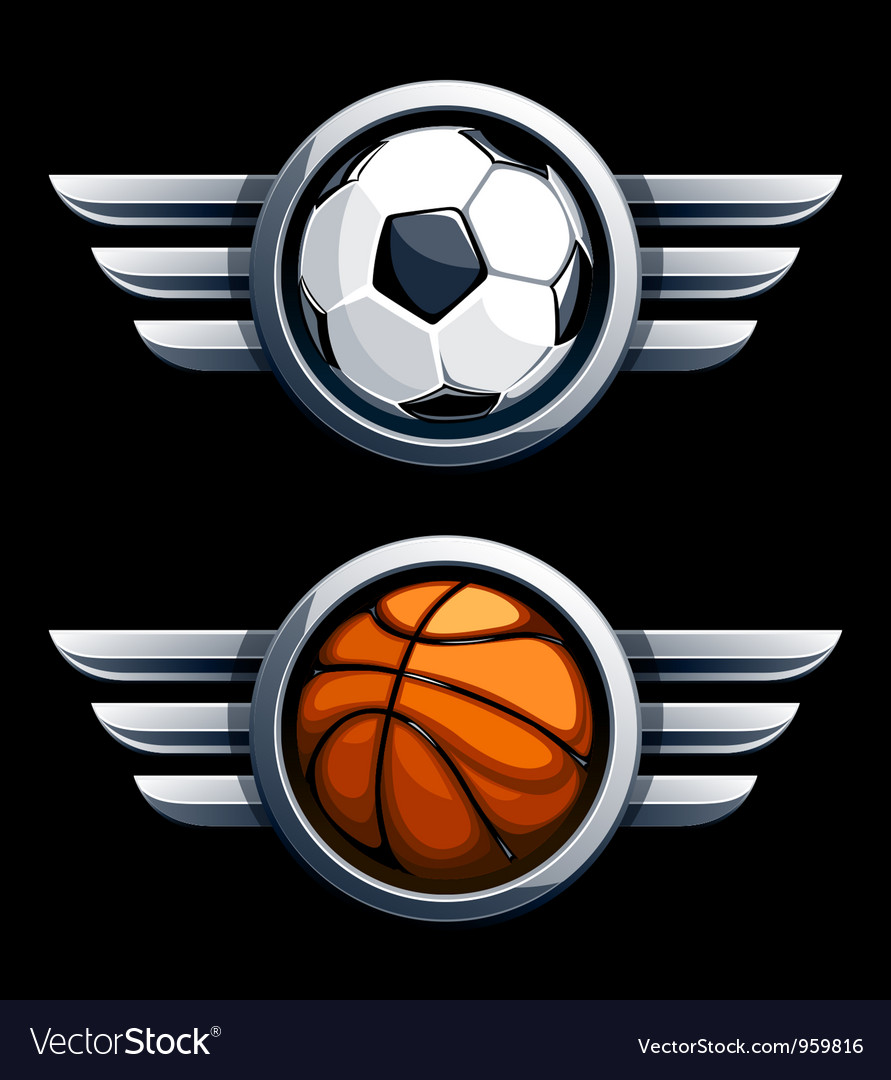 Basketball and soccer balls vector | Price: 3 Credit (USD $3)