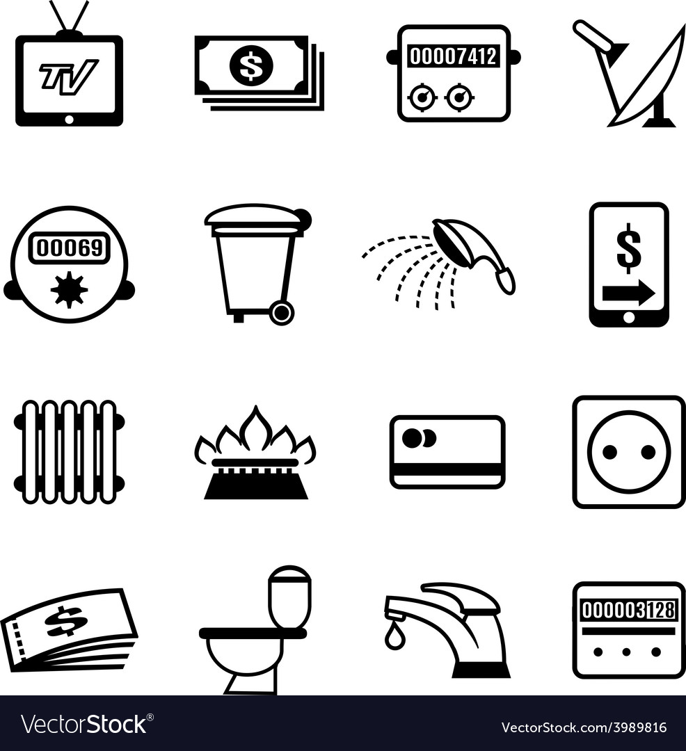 Bills icons vector | Price: 1 Credit (USD $1)