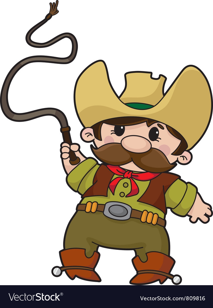 Cowboy with whip vector | Price: 3 Credit (USD $3)
