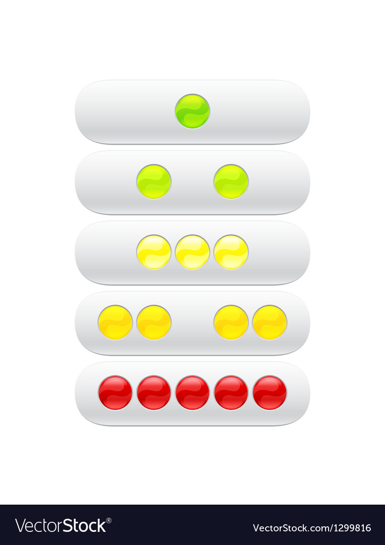 Green red yellow balls for web vector | Price: 1 Credit (USD $1)