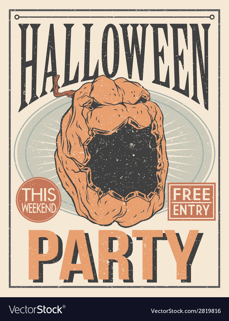 Halloween poster vector | Price: 1 Credit (USD $1)