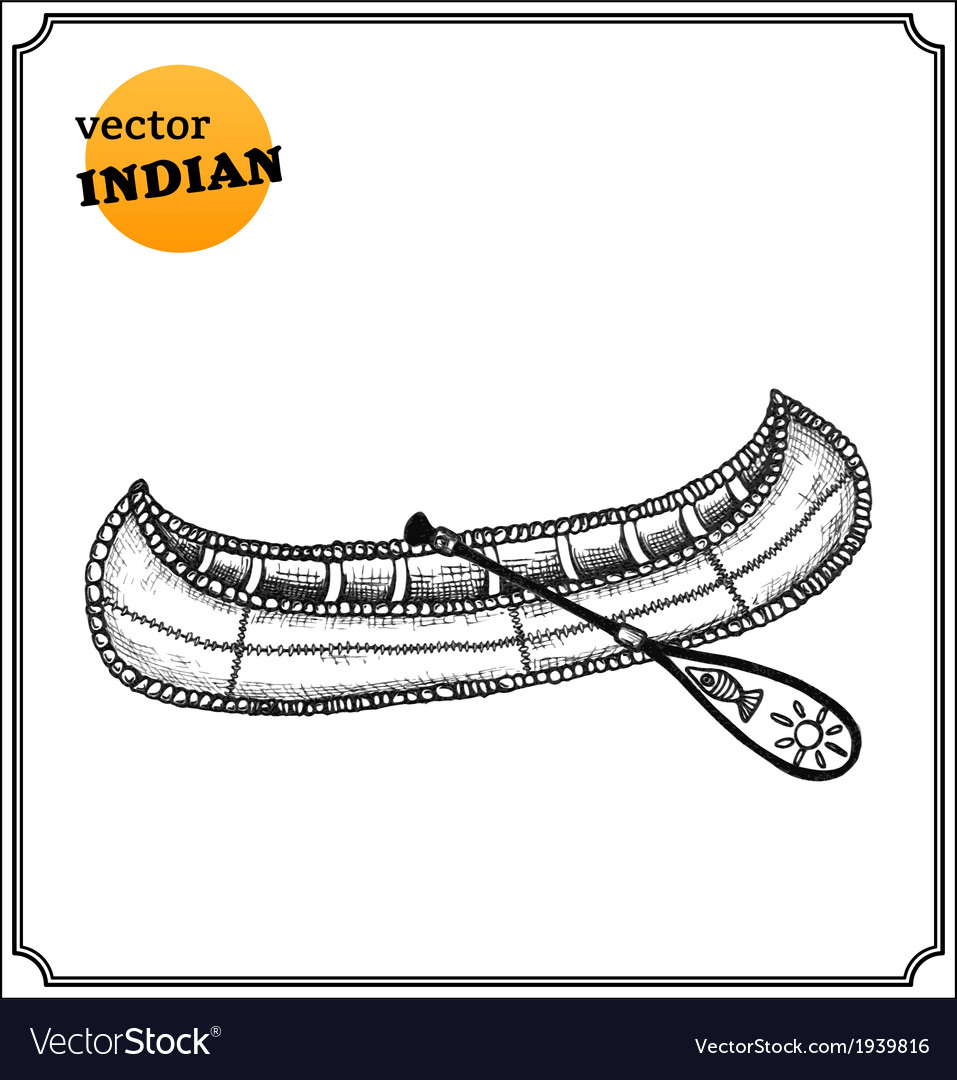 Indians canoe vector | Price: 1 Credit (USD $1)