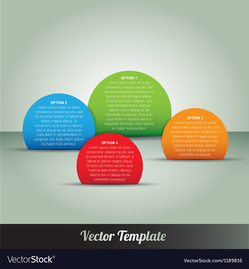 Options tab page template vector | Price: 1 Credit (USD $1)