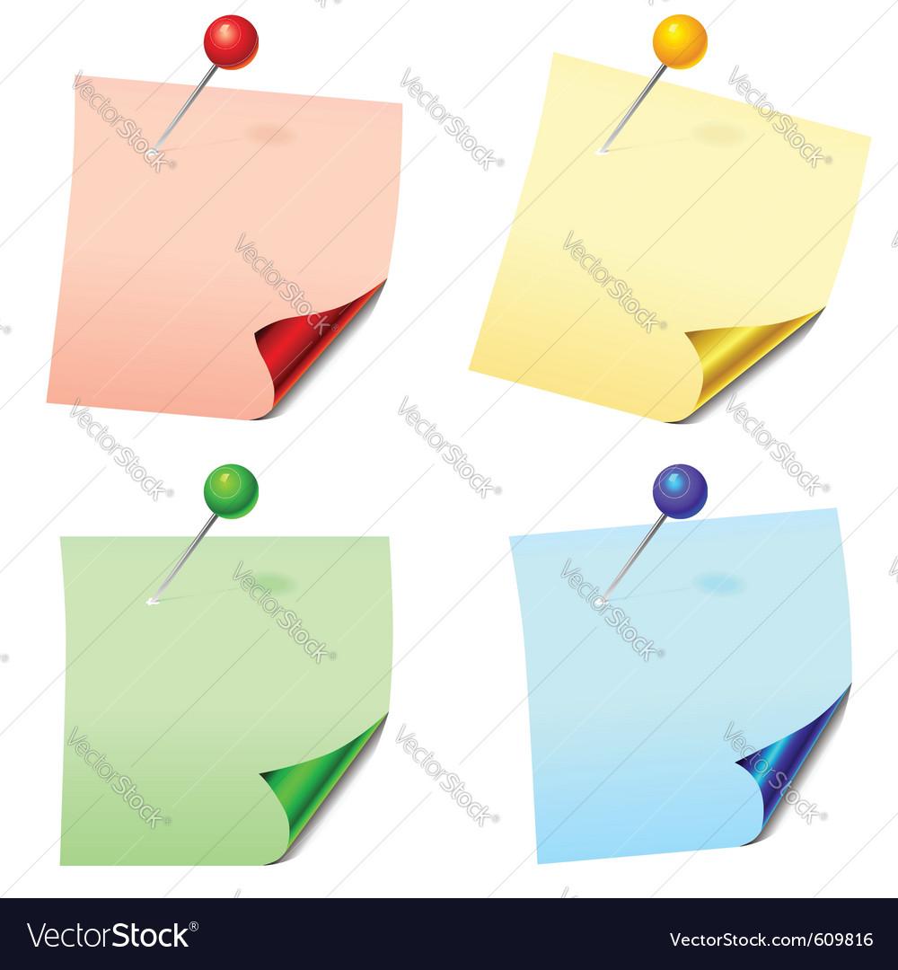 Paper sheets vector