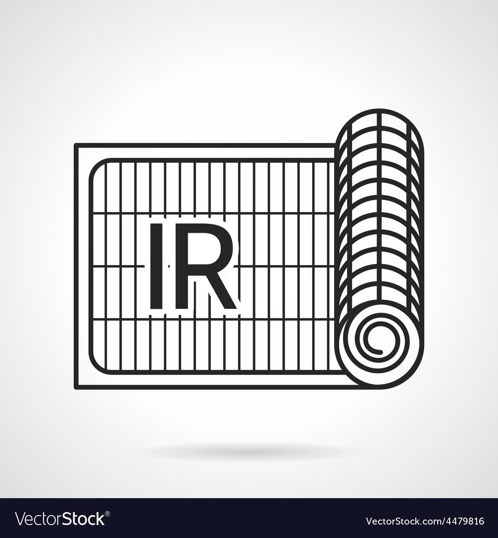 Radiant underfloor heating icon vector | Price: 1 Credit (USD $1)