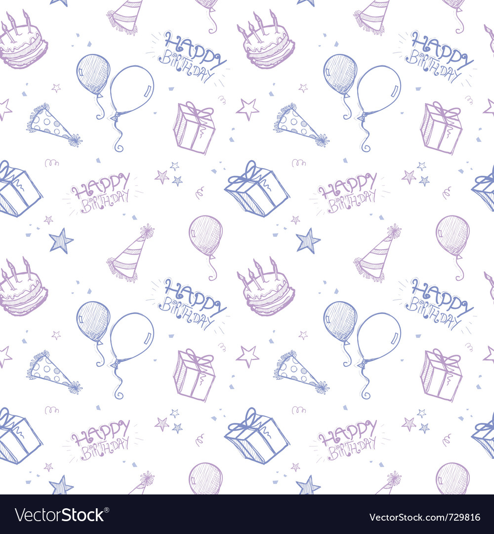 Seamless birthday wallpaper vector | Price: 1 Credit (USD $1)