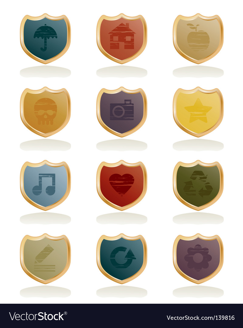 Shield icons vector   Price: 1 Credit (USD $1)