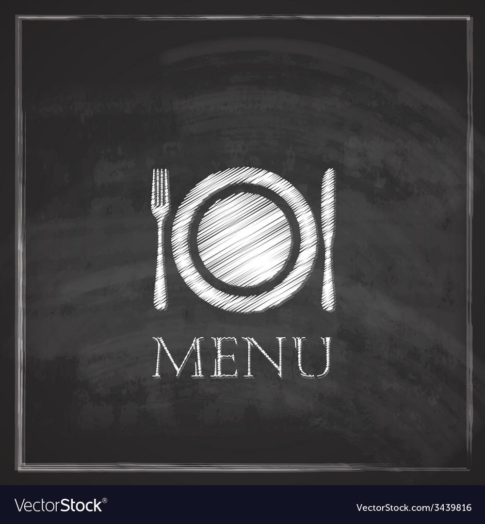 Vintage with restaurant menu design on blackboard vector | Price: 1 Credit (USD $1)